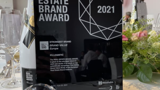 P3_Real Estate Brand Award_Strongest Brand Growth CREDITS P3 LOGISTIC PARKS